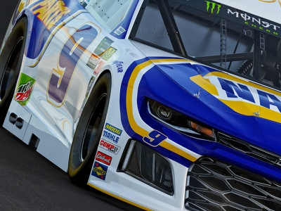 Realistic 3D Render of #9 NAPA NASCAR Cup Car by RPM-3D, Inc. hendrick motorsports chase elliott nascar3d real3d 3drender racing napa nascar rpm3d