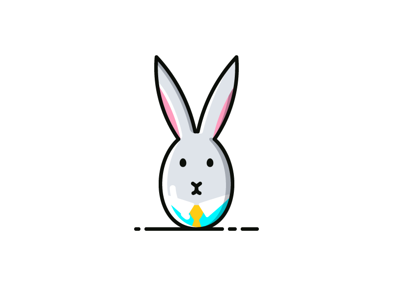 Easter Egg Bunny illustration icon bunny egg easter