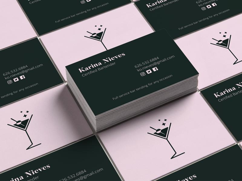 Bartender Business Card Mockup by JC Solis - Dribbble