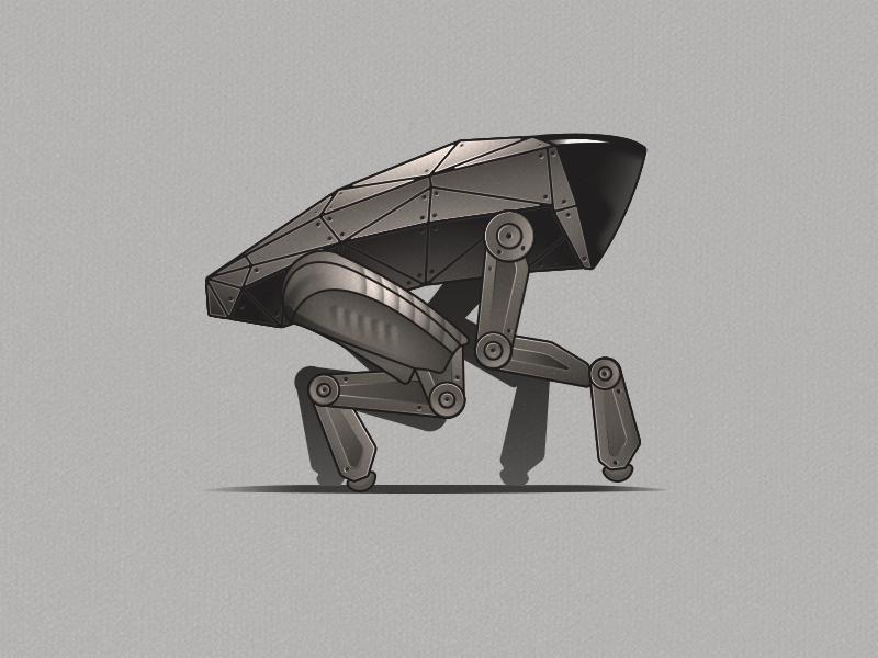 Metalhead - Pose 2 vector illustration dog robot metalhead black mirror