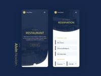 Restaurant Website Mobile Look