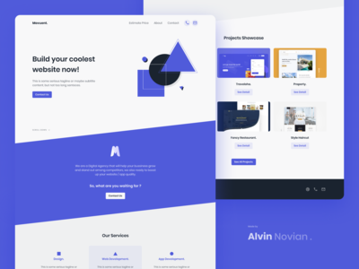 Landing page concept Digital Agency