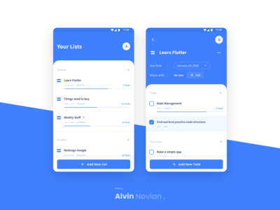Todo App mobile app design