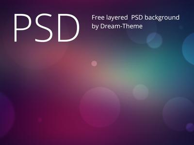 Free Bokeh PSD Background