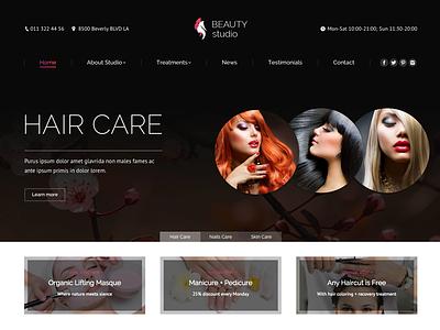 The7 Beaty Studio wordpress theme themeforest website cosmetics nails barber style studio salon beauty wordpress the7