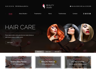 The7 Beaty Studio wordpress theme themeforest website cosmetics nails barber style studio salon beauty wordpress the7