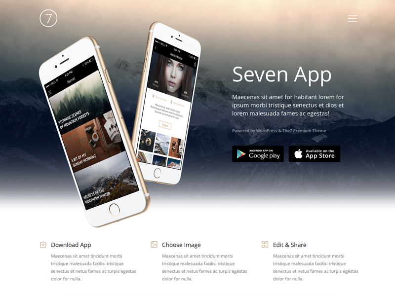 Seven app dribbble