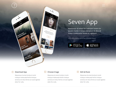 The7 Mobile App envato themeforest web wordpress the7 ui application landing app mobile