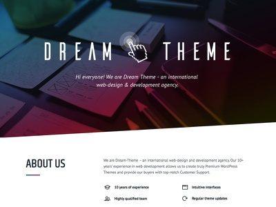 Dream-Theme's official website web-design agency web-design studio premium themes wordpress themeforest the7 dream-theme
