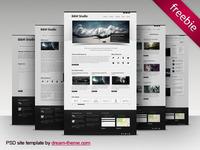 B&W Studio - Free PSD Site Template