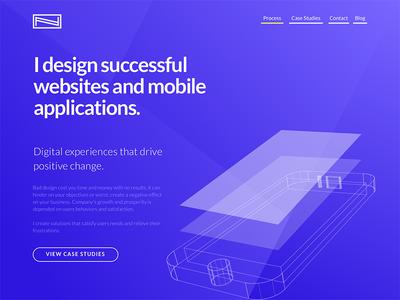 Personal portfolio redesign project website design ui ux portfolio