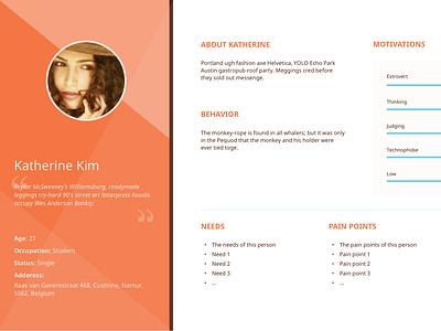 Persona Template design ux personas template free