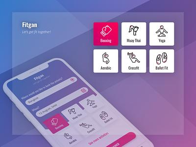 Dribble Fitgan design ui ux mobile app fitness