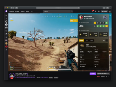 PUBG extension for Twitch.tv twitch.tv twitch ui pubg extention