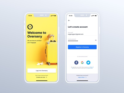 Oversery app yellow mobile ui ui map mobile design mobile app app mobile