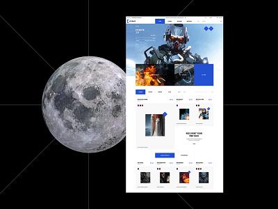 Keyback flat design fullscreen desktop website product catalog minimal web ux ui