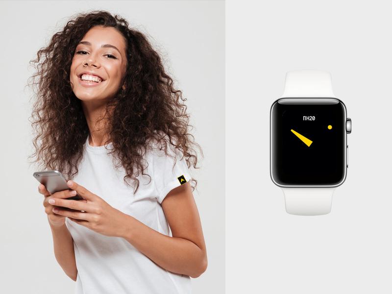Визаход apple watch tshirt identity flat logo branding design typography minimal