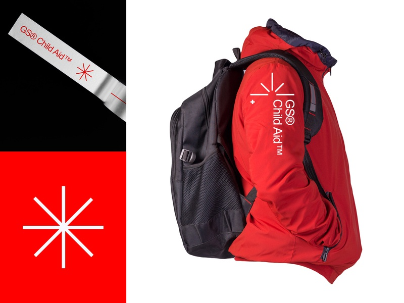 GS Child Aid skotch jacket charity star logotype identity icon vector branding logo