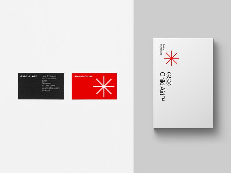 GS Child Aid book card minimal identity typography icon vector logo branding design