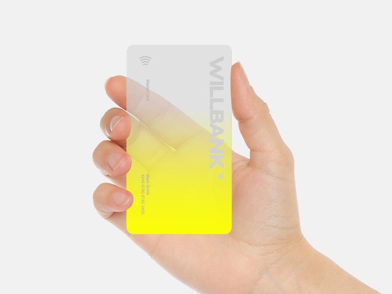 Willbank flat typography identitydesign identity card vector branding logo design minimal