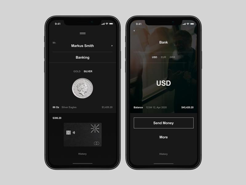 Golden Suisse App branding appdesign app mobile flat typography design minimal ux ui