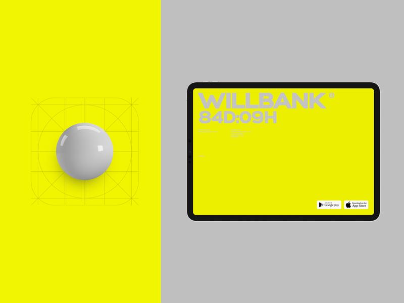 Willbank promo app branding desktop flat website web ux ui minimal
