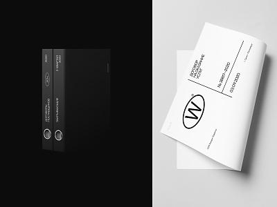 Wemakefab® blank binder office flat vector branding logo design typography minimal