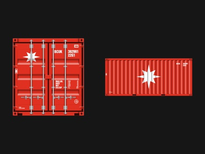 KO illustration container logistics star identity logo branding design typography minimal