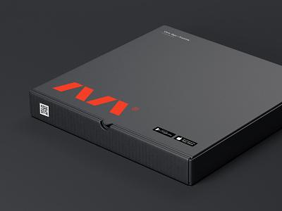 Eat Market vector black box identity typography minimal flat branding design logo