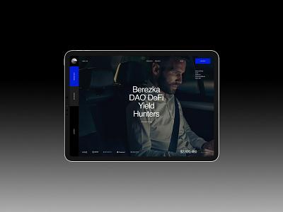 B—DAO branding design desktop typography website flat web ui ux minimal