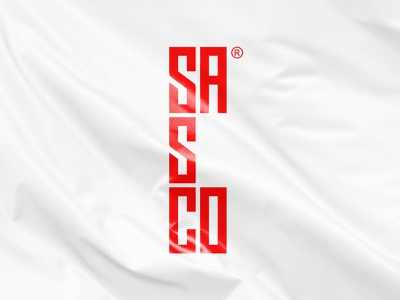 SASCO identitydesign red identity illustration vector branding logo design typography minimal