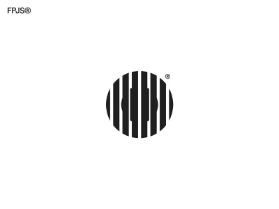 FingerprintJS fingerprint finger circle app icon vector branding design logo minimal