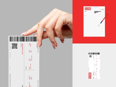SASCO pencil ticket blank illustration logo branding design typography flat minimal