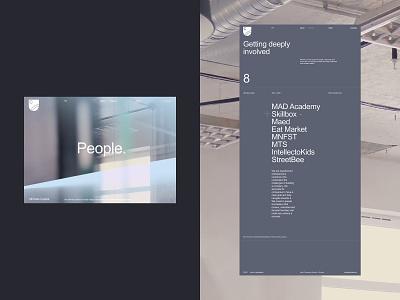 Ultimate Capital promo design desktop typography website flat web ux ui minimal