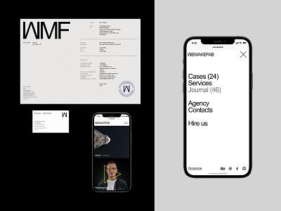 Wemakefab typo design branding typography website flat web ux ui minimal