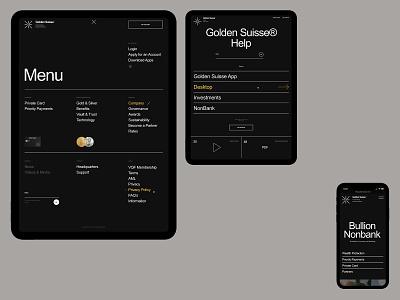 GS—Project branding mobile desktop typography website flat web ux ui minimal