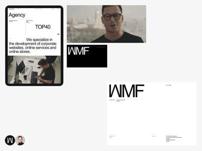 Wemakefab typo branding desktop typography website flat web ux ui minimal