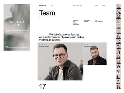 Wemakefab branding design desktop typography website flat web ux ui minimal