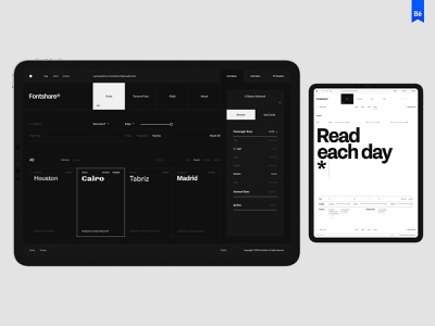 Fontshare typo design desktop typography website flat web ux ui minimal