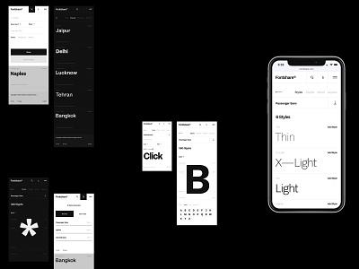 Fontshare typo typography desktop mobile website flat web ux ui minimal