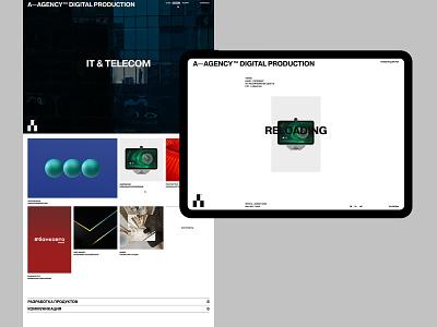 A—agency branding design desktop typography website flat web ux ui minimal