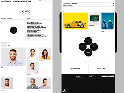 A—agency logo illustration design typography website flat web ux ui minimal
