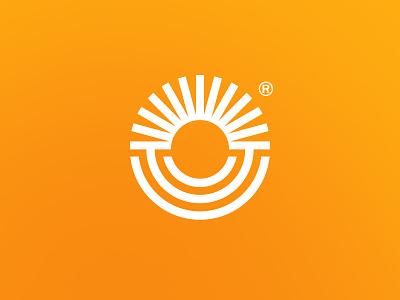 Поле Сад outline circle round mark logomark illustration logo design typography flat minimal