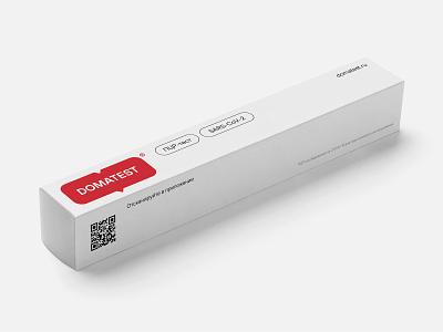 Domatest covid identity branding badge box logo illustration design typography website flat web minimal