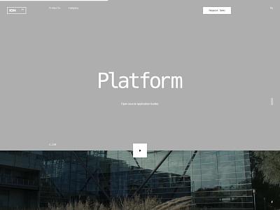 ION typo flat typography design desktop website web ux ui minimal