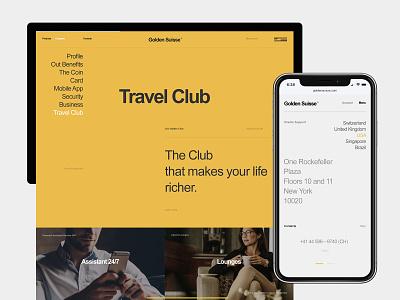 Golden Suisse fullscreen design typography flat desktop website web ux ui minimal