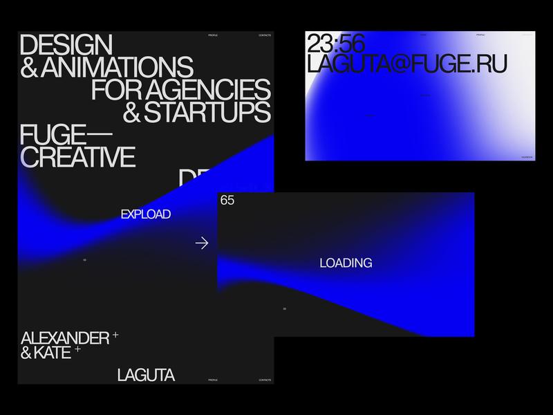 FUGE typo design typography flat desktop website web ux ui minimal