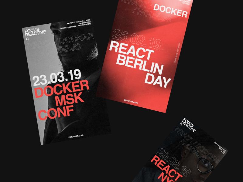 Focus Reactive poster identity vector branding illustration logo design typography flat minimal
