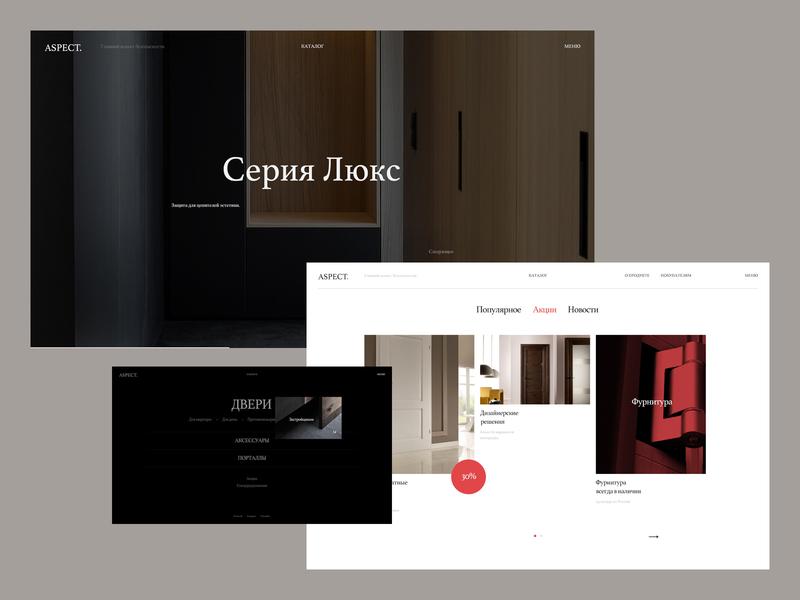 Aspect typo design typography fullscreen minimal desktop website web ux ui