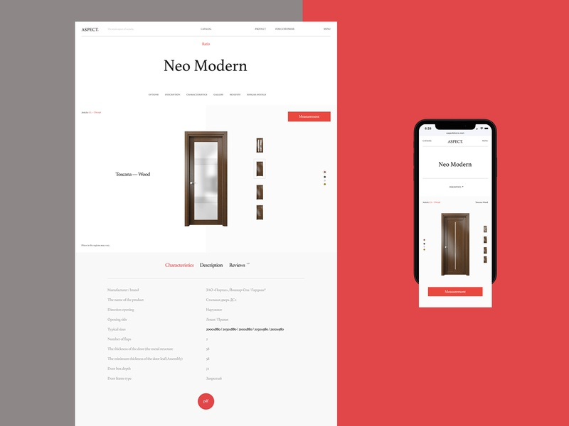 Aspect promo design typography minimal flat desktop website web ux ui